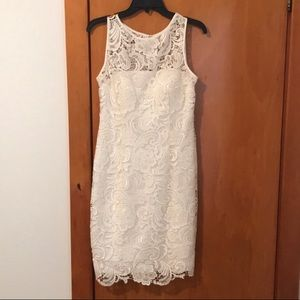 Adrianna Pappell White Dress Size 6